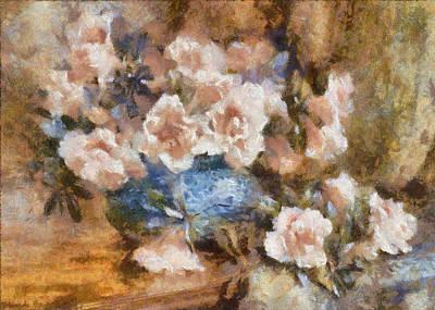 Digital Art - Oleanders In A Vase by Charmaine Zoe