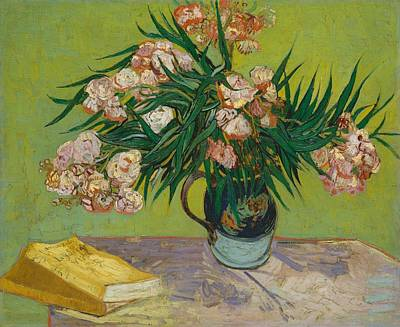 Netherlands Painting - Oleanders by Vincent van Gogh
