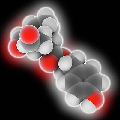 Oleocanthal Molecule Art Print by Laguna Design