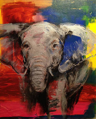 Poaching Painting - Olifant by Cathleen Klibanoff