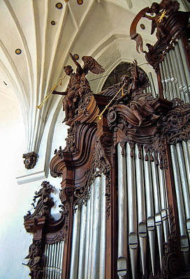 Photograph - Oliva Cathedral Organ by Jenny Setchell