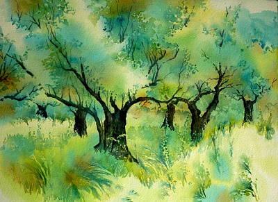 Crete Painting - Olive Grove 6 by Thomas Habermann