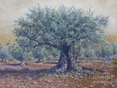 Painting - Olive In The Summer  by Miki Karni