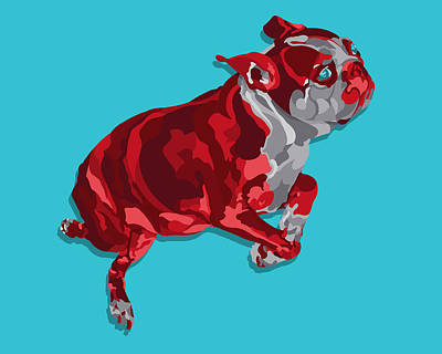 Terrier Digital Art - Olive by John Berndt