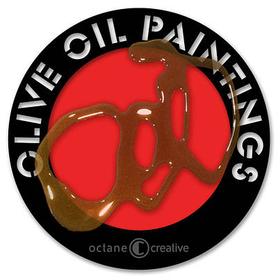 Digital Art - Olive Oil Paintings Logo by Tim Nyberg