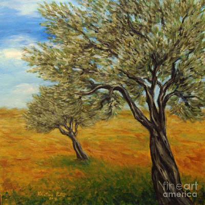 Olive Tree Painting - Olive Trees by Kristina Valic