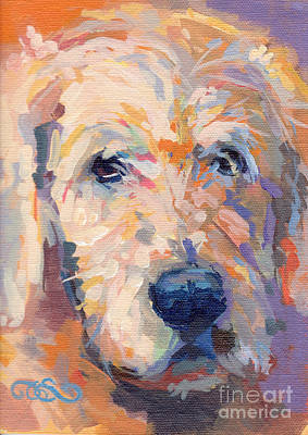A Dog A Day Painting - Oliver by Kimberly Santini