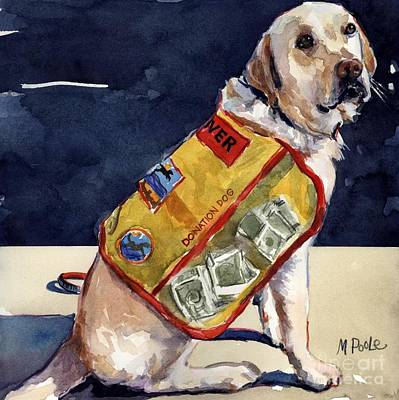 Fundraiser Painting - Oliver Rocks The Vest by Molly Poole