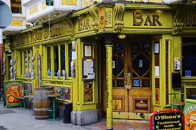 Dublin Digital Art - Oliver St John Gogarty Temple Bar - Dublin Ireland by Bill Cannon