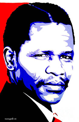 Oliver Tambo Art Print by Nancy Mergybrower