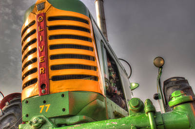 Antique Tractors Photograph - Oliver Tractor by Michael Eingle