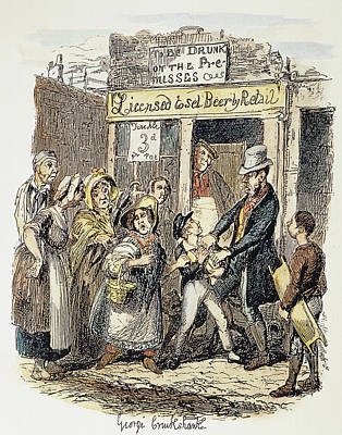 Theft Painting - Oliver Twist, 1837-1838 by Granger