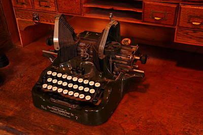 Oliver Typewriter Art Print by Jeff Swan