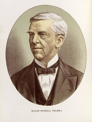 Oliver Wendell Holmes Art Print by British Library