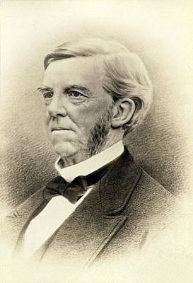 Oliver Wendell Holmes Art Print by Underwood Archives