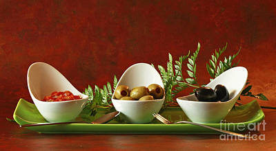 Olives And Salsa Delight Art Print by Inspired Nature Photography Fine Art Photography