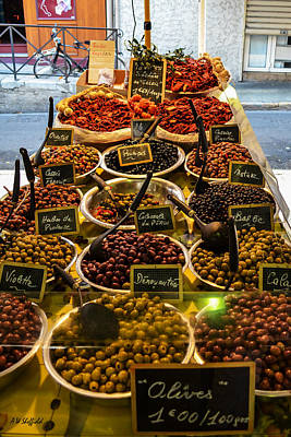 Photograph - Olives At Marche Provencal by Allen Sheffield