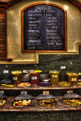 Photograph - Olive Bar - Astoria New York by Joann Vitali