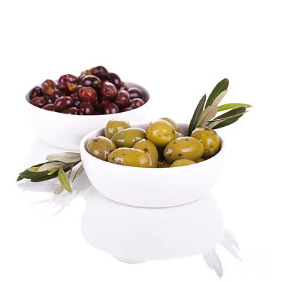 Nibbling Photograph - Olives by Jane Rix
