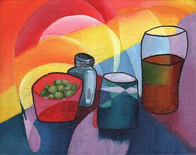 Painting - Olives Salt N Beer by William Killen