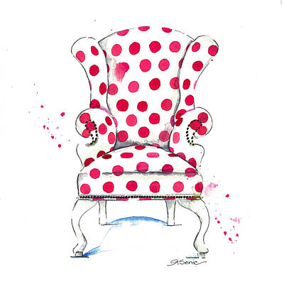 Chairs Painting - Olivia Chair by Roleen  Senic