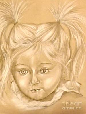 Angelic Drawing - Olivia by Sandra Valentini