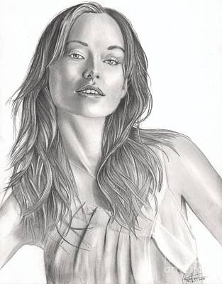 Drawing - Olivia Wilde by Christian Conner