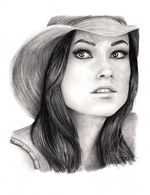 Drawing - Olivia Wilde by Rosalinda Markle
