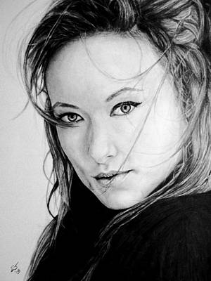 Olivia Drawing - Olivia Wilde by Ryan Jacobson