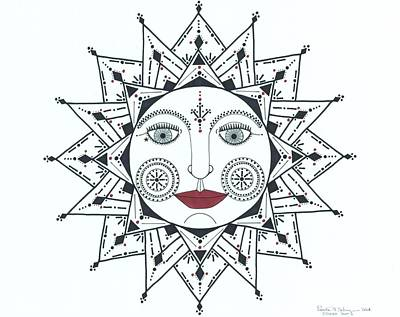 Drawing - Olivia's Sun by Pamela Schiermeyer