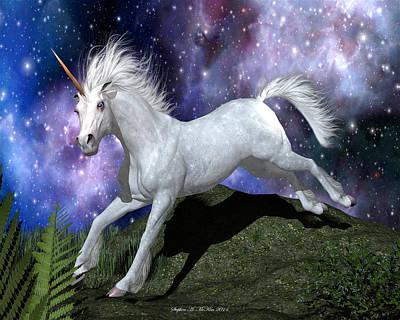 Digital Art - Olivia's Unicorn by Stephen McKim