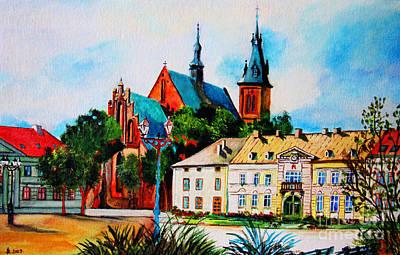 Nature Center Painting - Olkusz Town Center by Ryszard Sleczka