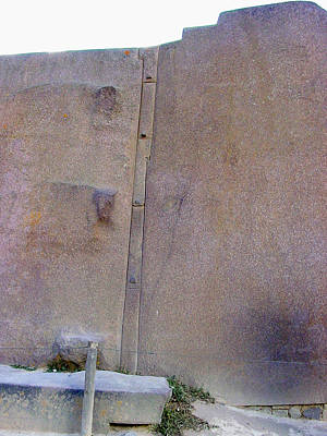 Cusco Photograph - Ollantaymbo Wall Of Six Monoliths by Roger Burkart