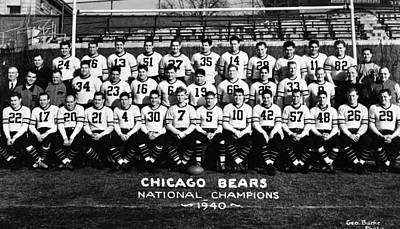 Activity Photograph - Chicago Bears 1940 by Retro Images Archive