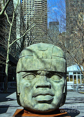 Photograph - Olmec Head by Allen Beatty