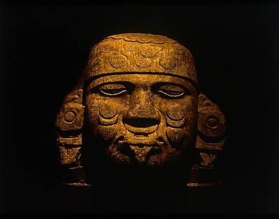 Olmeca Head Art Print