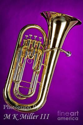 Photograph - Olor Photograph Of A Tuba Brass Music Instrument 3280.02 by M K  Miller