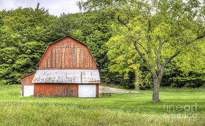 Olsen Farm At Port Oneida Art Print