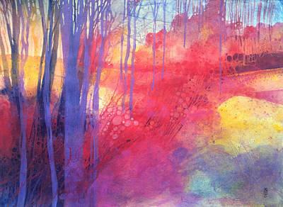 Oltre Il Sentiero Dei Faggi D'autunno Art Print by Alessandro Andreuccetti