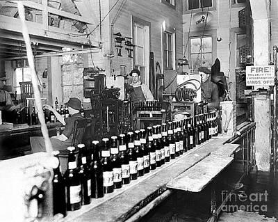 Olympia Brewing Company Bottling Line 1914 Art Print by Joe Jeffers