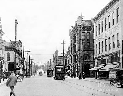 Photograph - Olympia Main Street 1917 by Joe Jeffers