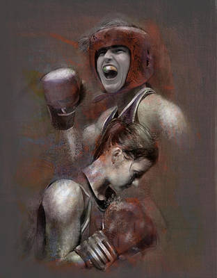 Boxing Mixed Media - Olympic Champ by James Robinson