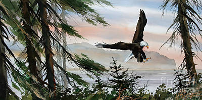 Olympic Coast Eagle Art Print
