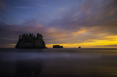 Stacks Photograph - Olympic Coast Sunset by Larry Marshall
