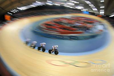 Olympic Cyclists At The Velodrome, 2012 Art Print