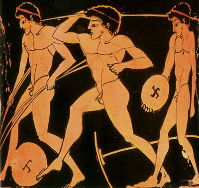 Photograph - Olympic Games, Discus Throw, Red-figure by Science Source