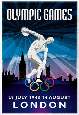 Briex Digital Art - Olympic Games London 1948 New Style by Nop Briex