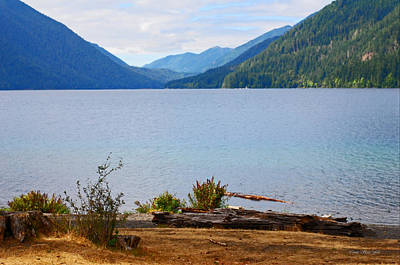 Photograph - Olympic Mountains At Lake Crescent by Connie Fox