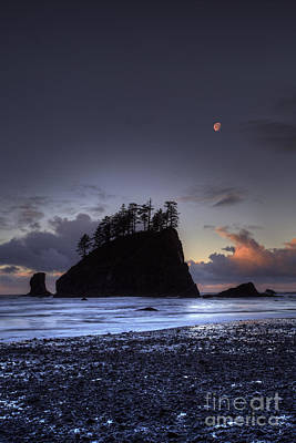 Olympic National Park Photograph - Olympic Nationals Moon Stacks by Marco Crupi