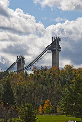 Photograph - Olympic Ski Jumps Lake Placid by David Seguin